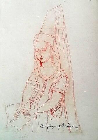 Margarita Estuardo. (1424-1445) - 1ª Esposa de Luis IX.