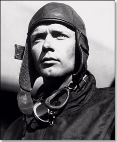 Charles lindbergh makes first trans atlantic flight