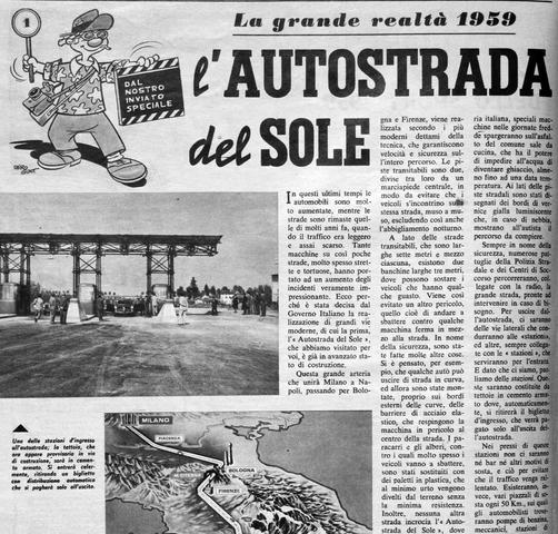 Inizia la costruzione dell'Autostrada del Sole