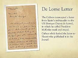 The De Lome Letter