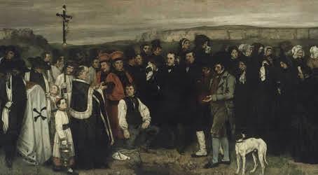 Funerale a Ornans- Courbet