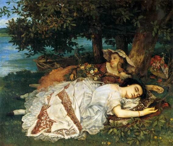 Fanciulle sulla riva della Senna- Courbet