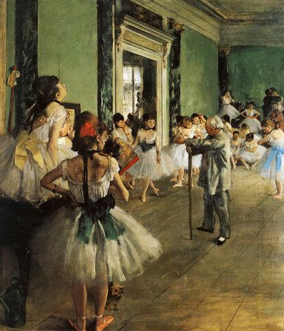La lezione di danza- Degas