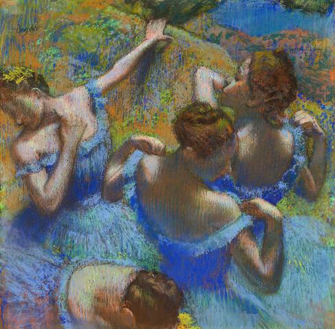 Ballerine dietro le quinte- Degas