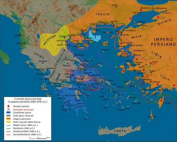 Inizio prima guerra persiana
