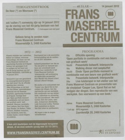 40 jaar Frans Masereel Centrum