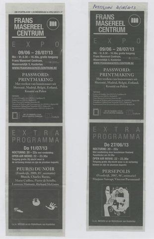 Password: Printmaking + extra programma