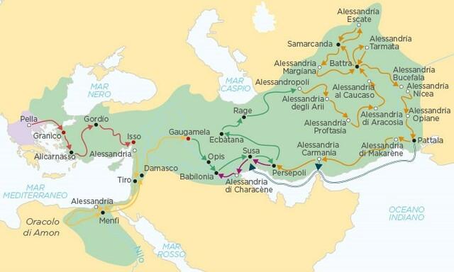 Estremo limite orientale di impero di Alessandro Magno