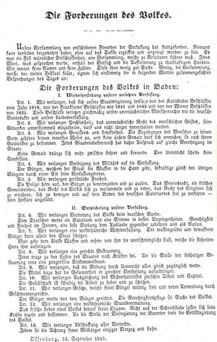 March Demands (Baden)
