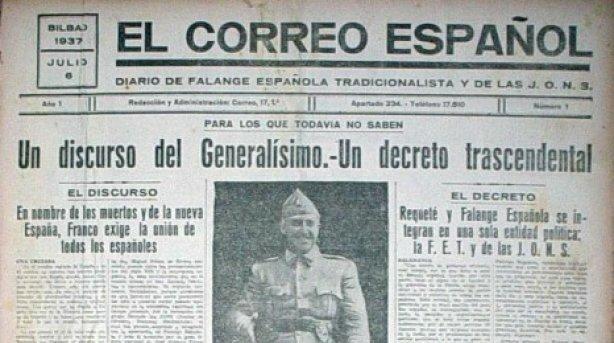 Decreto de Unificación dictado por Franco