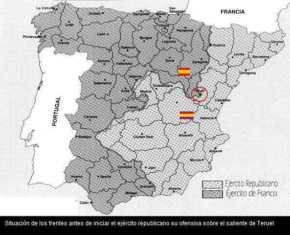 Batalla de Teruel: conquista por parte de los republicanos