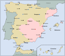 La España republicana dividida en dos