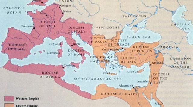 Roma İmparatorluğu'nun ikiye ayrılması