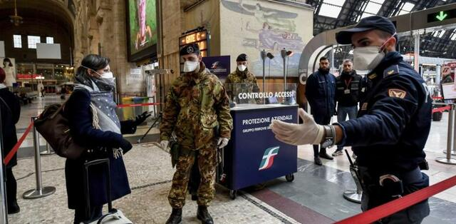 First restrictions in Italy