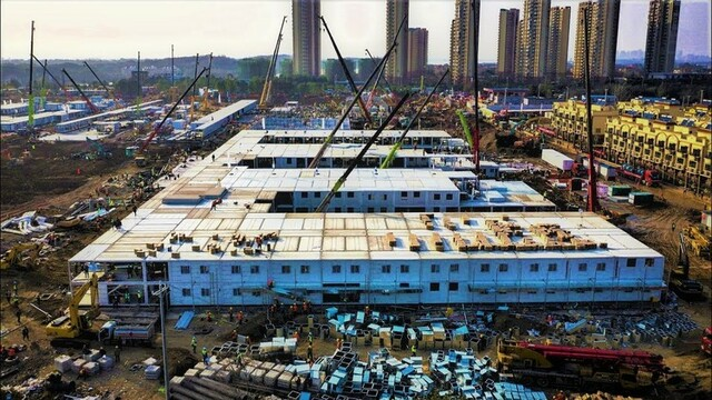 China builds 1,500-bed hospital in five days to treat COVID-19 patients
