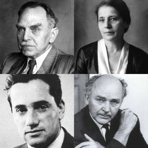 Otto Hahn, Lise Meitner, Otto R. Frisch y Fritz Strassmann