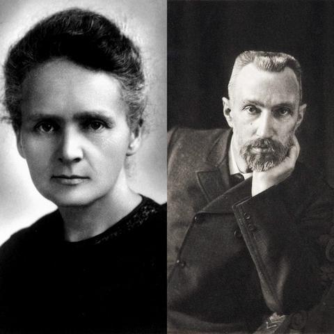 Marie S. Curie y Pierre Curie
