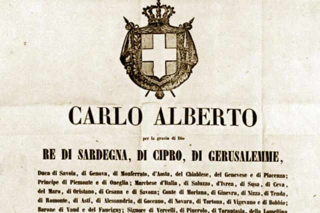Le prime Costituzioni e lo Statuto Albertino