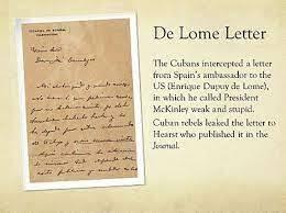 Publication of the  de Lôme Letter