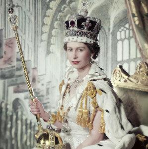 Coroação da então rainha Elizabeth II
