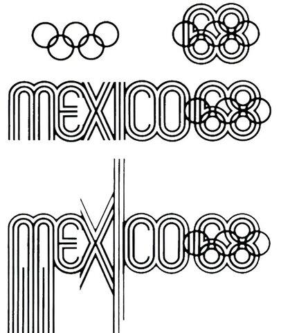 Diseño del póster y emblema de los Juegos Olímpicos México 68