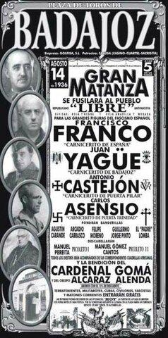 Yagüe toma Zafra, Almendralejo y Badajoz