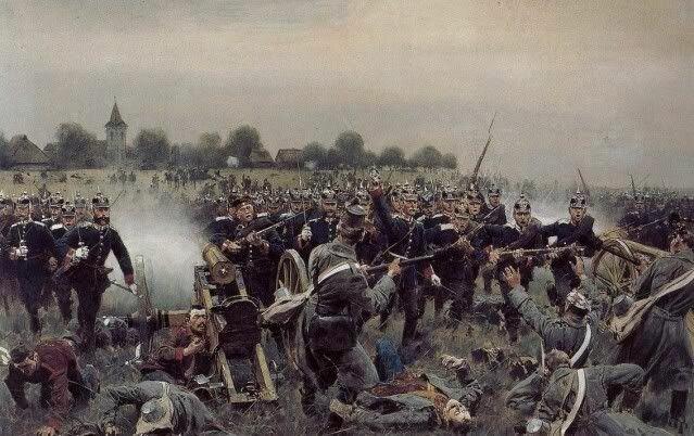 Guerra contra Austria (14/Jun/1866 - 23/Ago/1866).