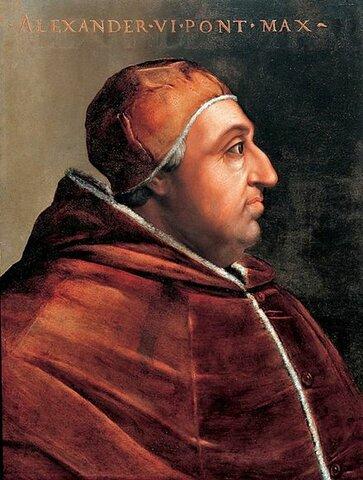 Pope Alexander VI Grants Americas to Spain
