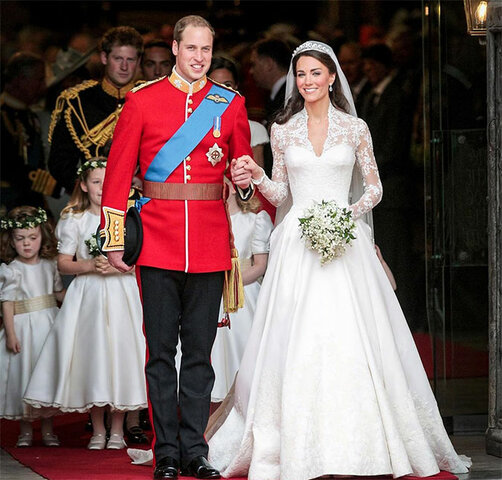 Casamento do príncipe guilherme (William) de gales e Catherine Middleton