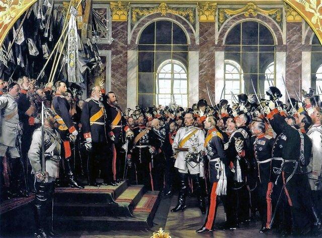 Fundación del Imperio Alemán (18/Ene/1871).