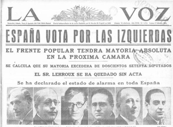 Victoria del Frente Popular.