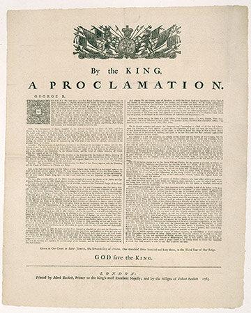 Proclamation Royal.