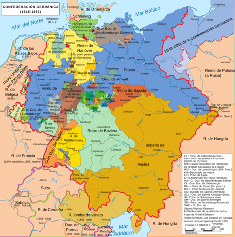 Creación de la Confederación Germánica (1815-1866).