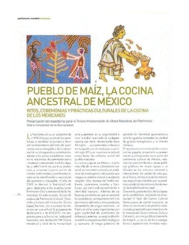 """""""Pueblo de maiz: La cocina ancestral de mexico."""" [expediente]"""