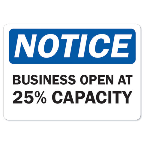 Businesses and indoor gatherings are limited to 25% capacity