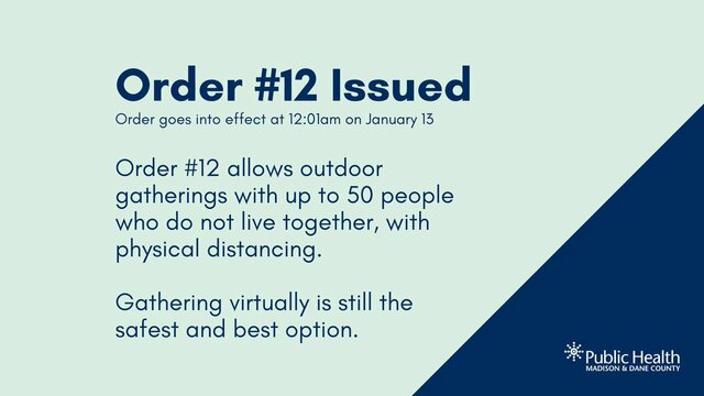 New order allows indoor gatherings of 10 people and outdoor gatherings of up to 50 people