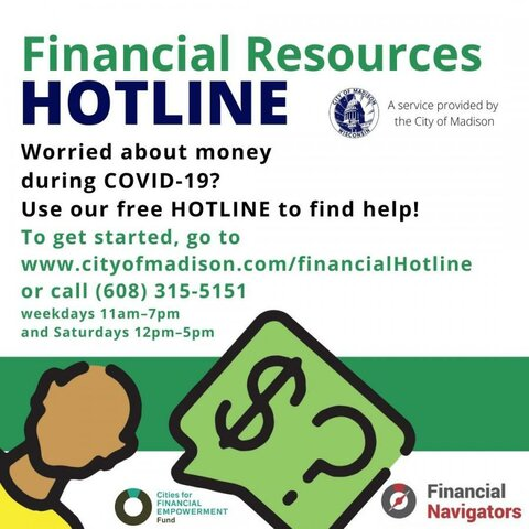 Financial resources hotline is introduced in Madison