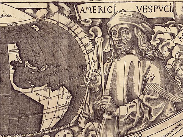 Vespucci Lands in South America