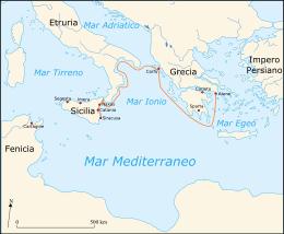 Siracusa viene assediata dagli ateniesi