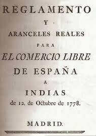 Decreto de libre comercio para América.
