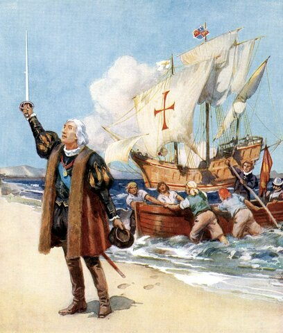 Christopher Columbus finds the New World