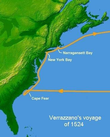 Giovanni de Verrazzano helps shape how the map looks
