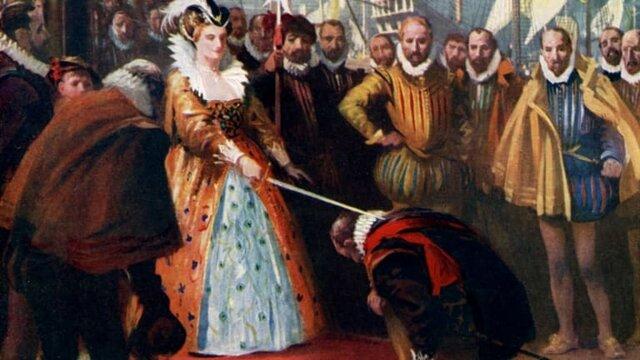Francis Drake becomes a british slave trader