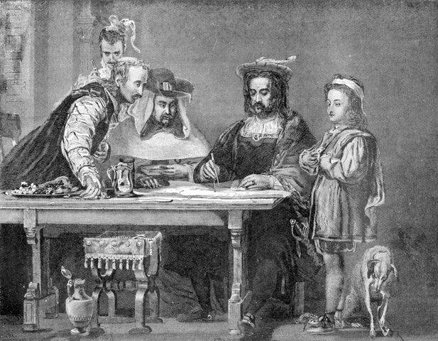 Ferdinand II and Isabella I fund Christopher Columbus's voyage