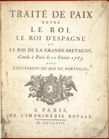 Le traité de Paris