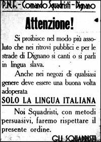 Leyes Fascistísimas en Italia.