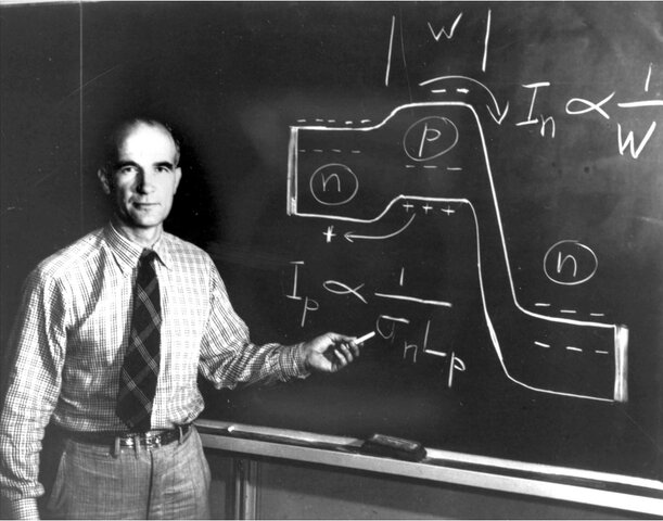 "William Shockley developed the ""Bipolar Junction"" transistor theory at Bell Labs."