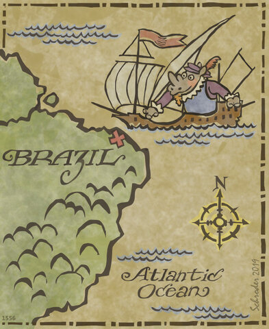 Discovery of Brazil and the Amazon River- Vicente Yanez Pinzon
