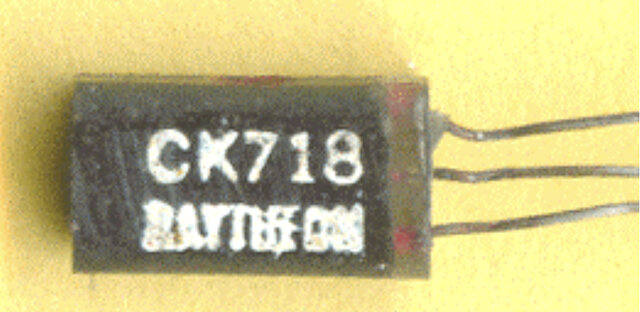 "10,000 ""CK718"" hearing aid transistors are produced by Raytheon."