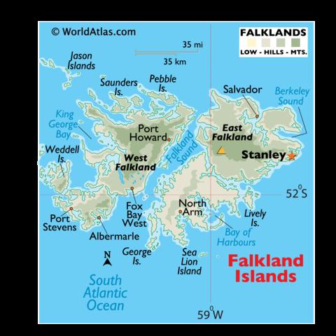 John Davis discovers the Falkland Islands